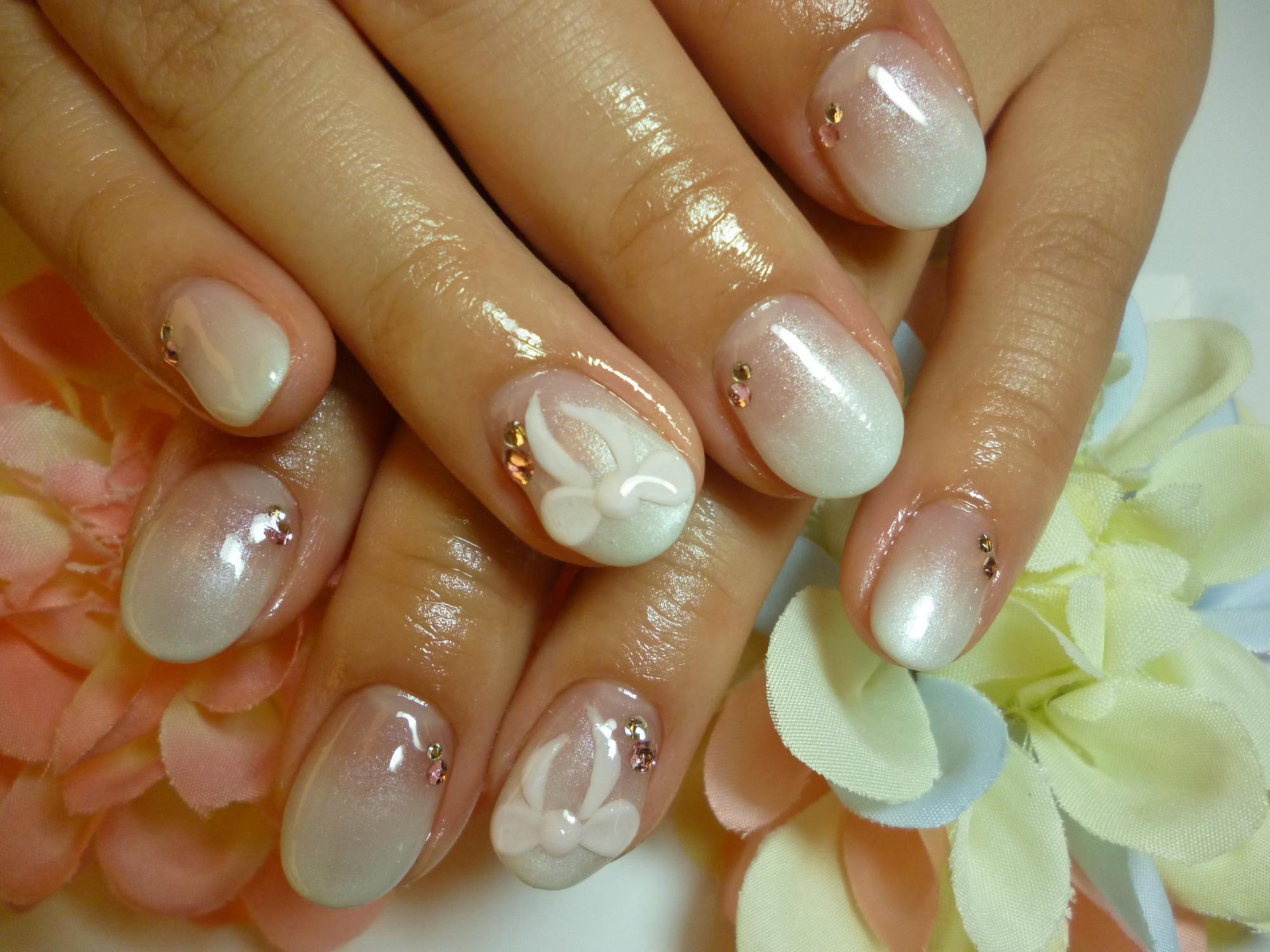Гель лак свадебный дизайн на короткие ногти фото