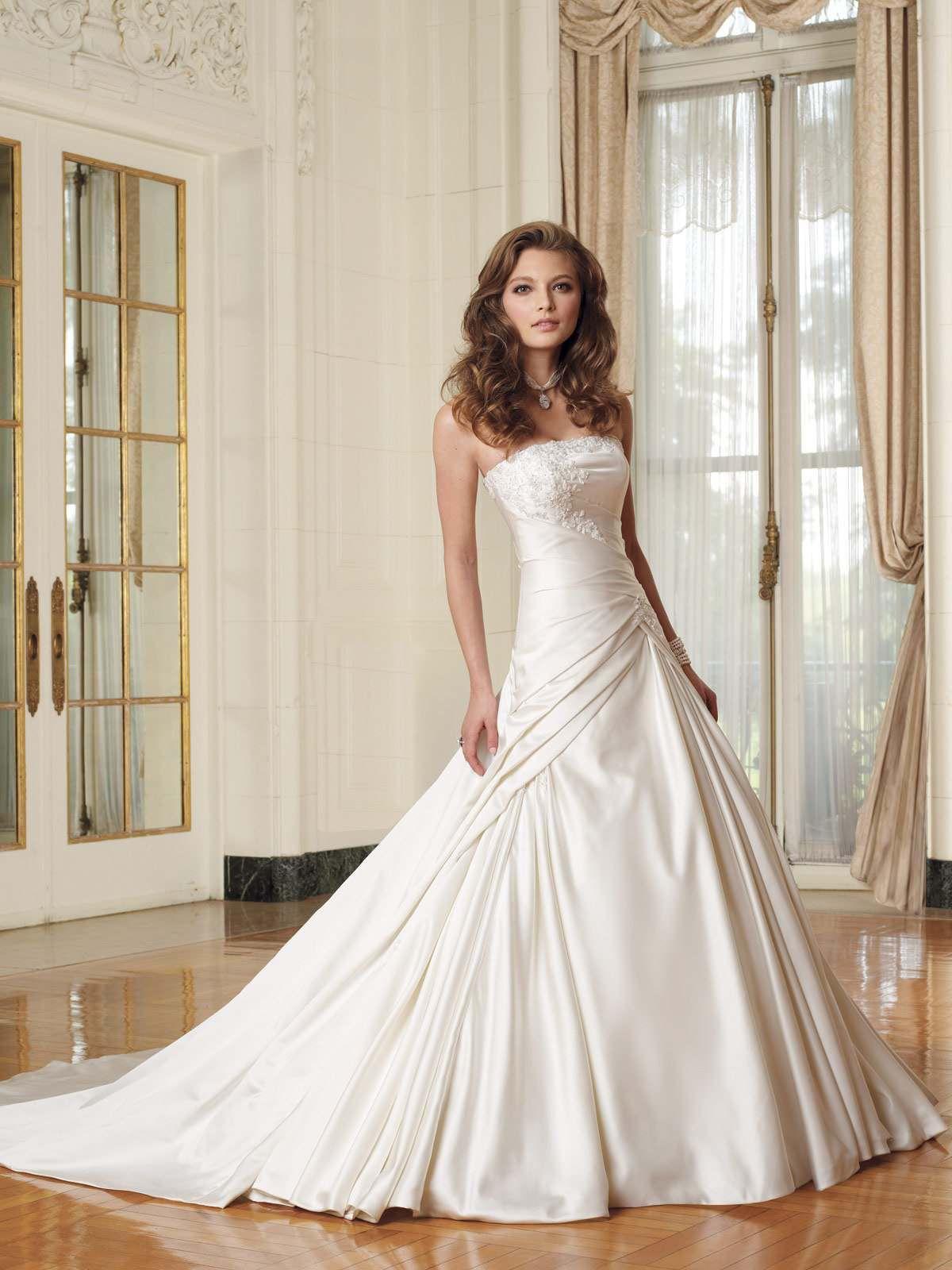 свадебное платье с малиновой лентой :: chestwindbarcse1975