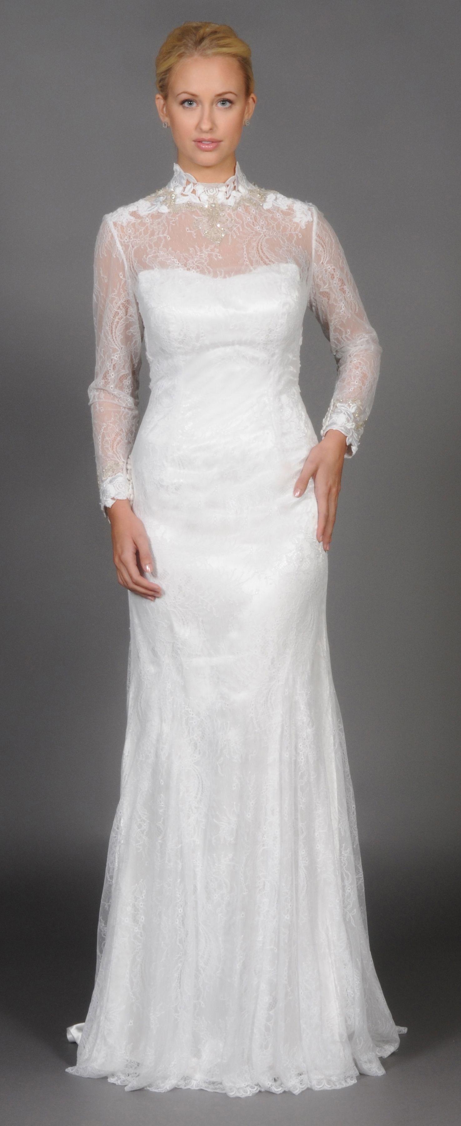 Стоячие свадебные платья