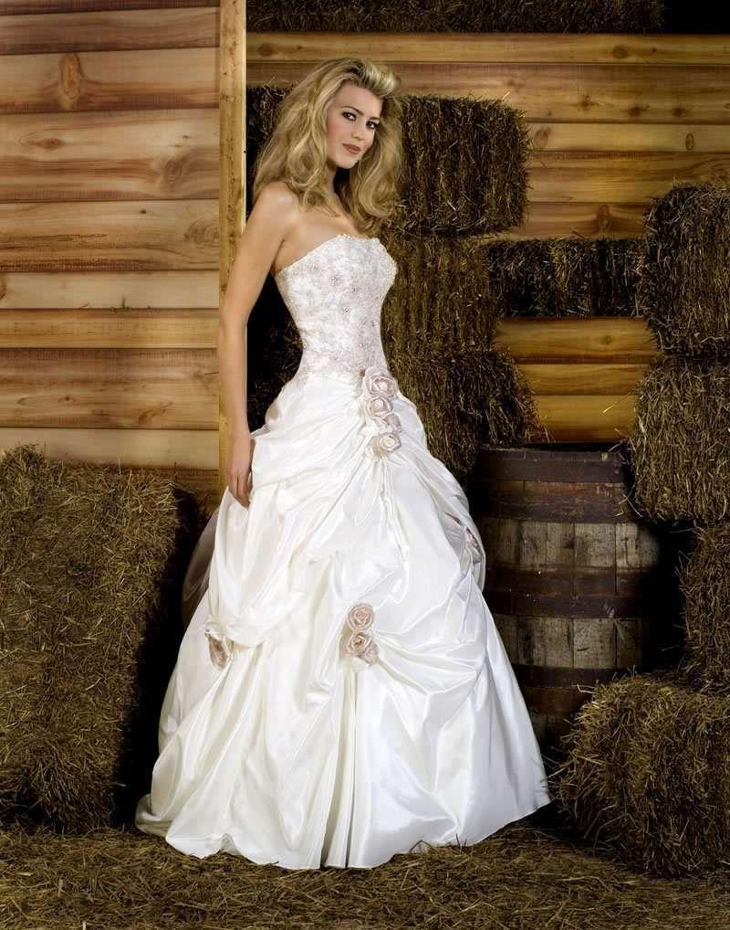 Буфы на свадебных платьях