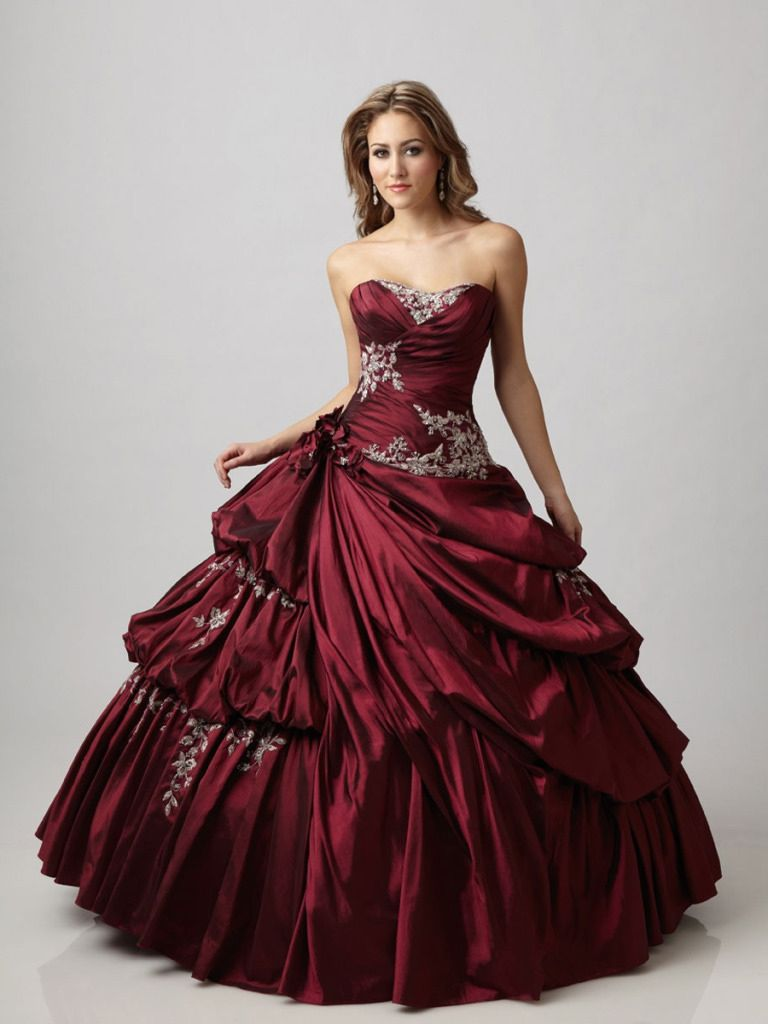 Платья свадебные бордовый