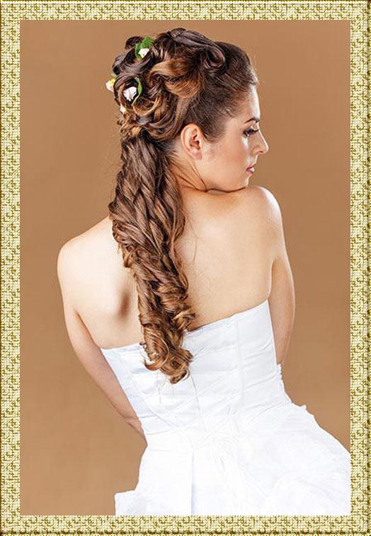 Свадебные причёски из длинных волос.видео