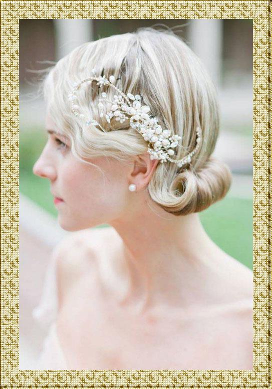 Свадебная прическа на тонкие волосы средней длины